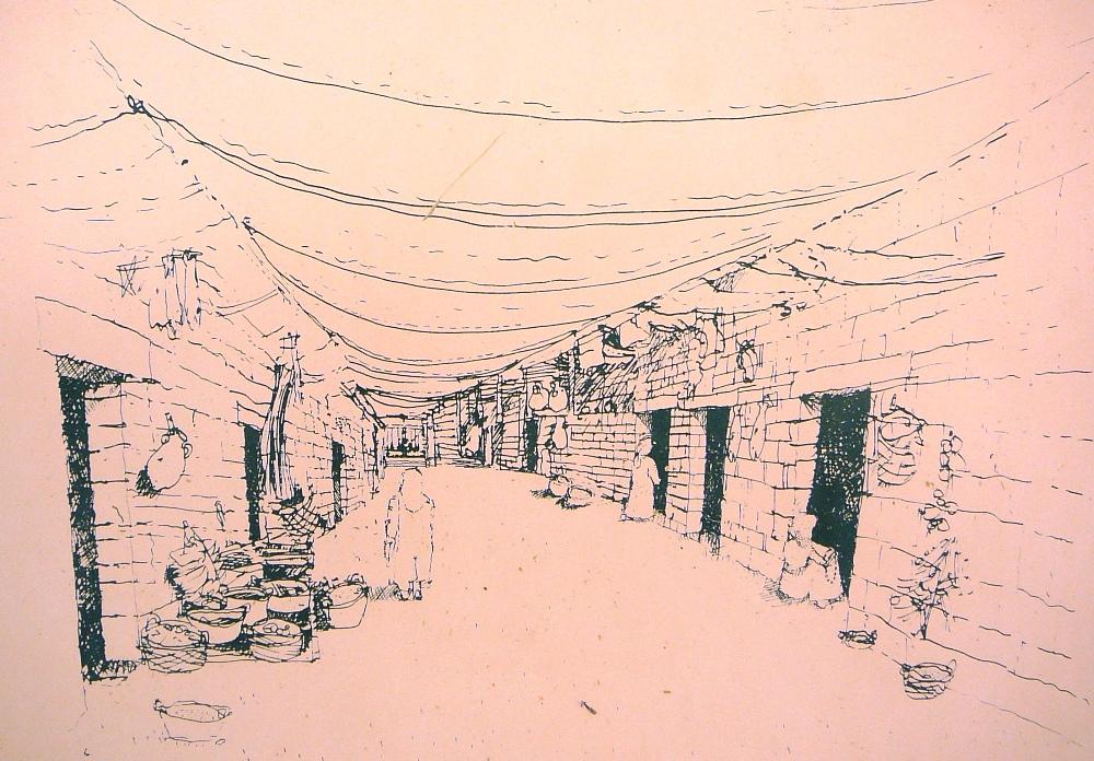 Эскиз рынка в Мамшите