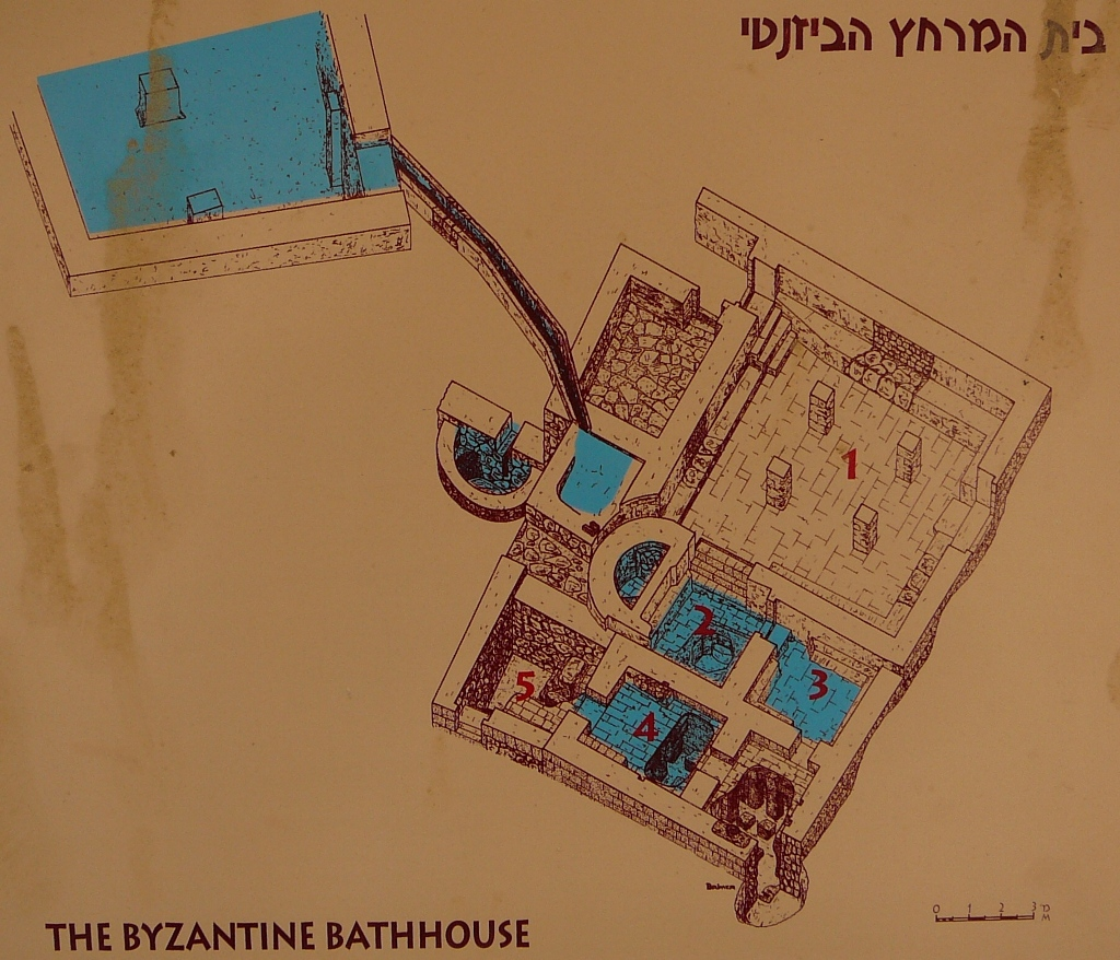 Эскиз набатейской бани периода Византии