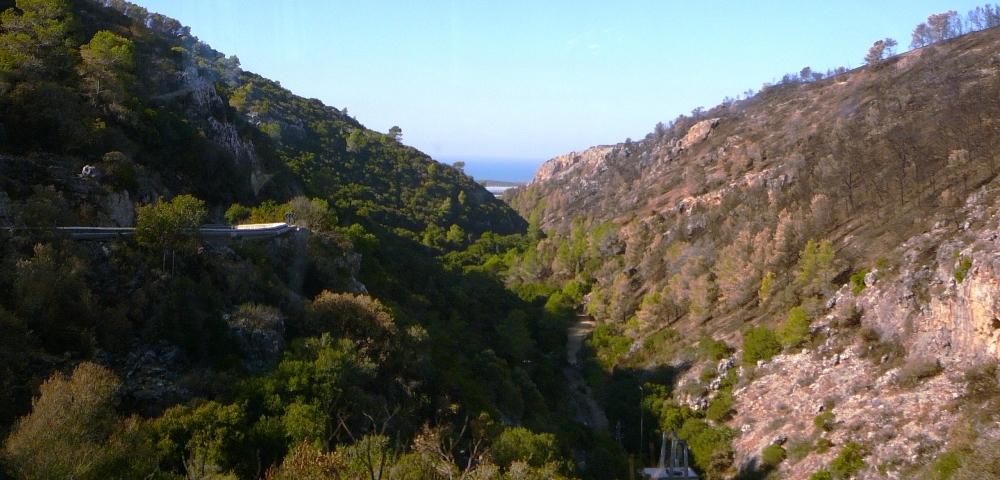 Гора Кармель - ущелье Орен - вид в сторону моря