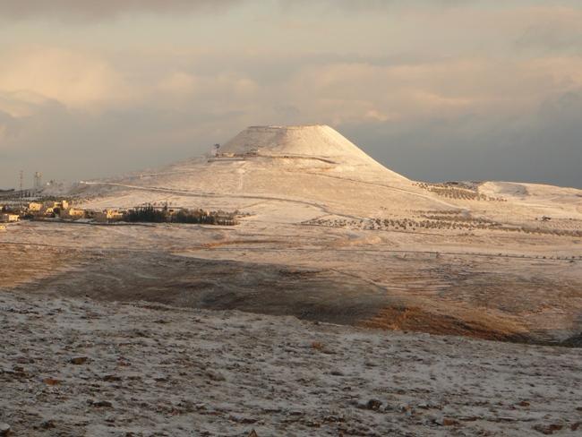 Иродион в снегу