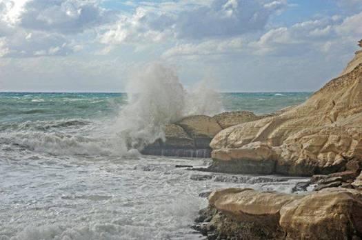 Рош а-Никра - побережье Средиземного Моря, север Израиля